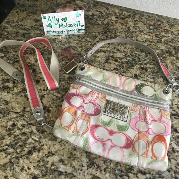 Coach Handbags - Coach Scribble Messenger Bag